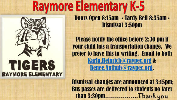 WELCOME, RAYMORE TIGERS!